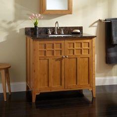 Photo Gallery For Website  Betong Bamboo Vanity for Rectangular Undermount Sink