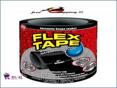 FLEX TAPE™is a super strong, rubberized, waterproof tape that can patch, bond, seal and repair virtually everything ! FLEX TAPE™ is specially formulated with a thick, flexible, rubberized backing that conforms to any shape or object ! | eBay!