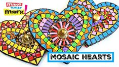How to: Mosaic Hearts Crafts To Sell, Diy Crafts, Hanging Scarves, Cardboard Crafts, Mosaic Designs, Make Your Mark, Book Crafts, Craft Videos, Twinkle Twinkle