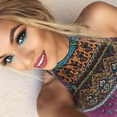 Best Ideas For Makeup Tutorials Picture Description Turquoise takes us away to our happy place! Shirley Clary used the 35U on her warm brown eyes and we love the color burst on her Lower lash line! Thanks for sharing #morphegirl - #Makeup https://glamfashion.net/beauty/make-up/best-ideas-for-makeup-tutorials-turquoise-takes-us-away-to-our-happy-place-shirley-clary-used-the-35u-on-her-wa-2/