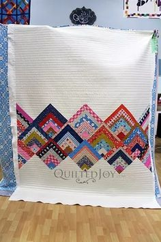 Sewing Quilts Patterns Patchwork New Ideas Colchas Quilting, Scrappy Quilts, Easy Quilts, Jellyroll Quilts, Quilting Ideas, Mini Quilts, Star Quilts, Édredons Cabin Log, Log Cabins