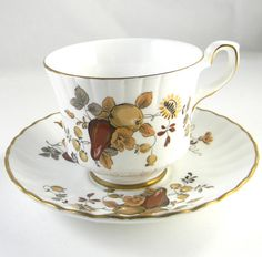Vintage Tea cup and saucer Royal Stafford fine by FeliceSereno, $15.00