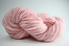 TTS Handdyed Thick and Thin Slub Yarn Fine Merino 55tts12024 Pink Chiffon.