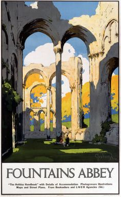 'Fountains Abbey', LNER poster, 1923-1947., Petrie, Graham