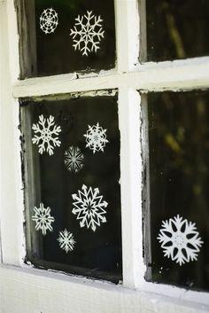 Snowflakes for windows. #christmas #decoration #DIY