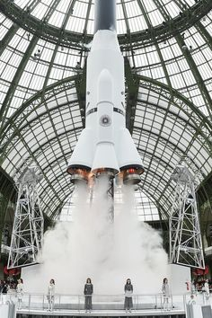 Whoa! Chanel Staged a Rocket Launch Today at Its Paris Fashion Show via @PureWow