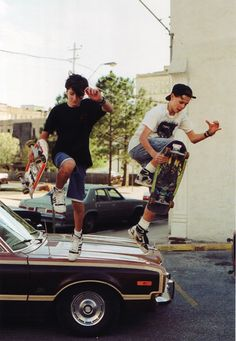 old school skateboarder