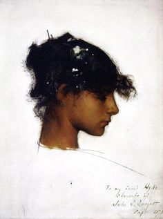 Head of Rosina  John Singer Sargent - 1878