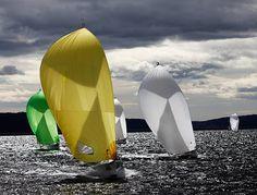 Sailing in Oslo by Eli Reinholdtsen - #nautical