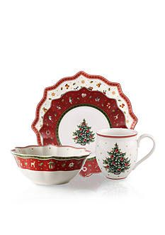 Villeroy & Boch Toys Delight Square Dinner/Brunch Plate Home - Bloomingdale's Christmas China, Spode Christmas Tree, Christmas Dishes, Christmas Colors, Merry Christmas, Xmas, Fine China Dinnerware, Casual Dinnerware, Vintage Dinnerware