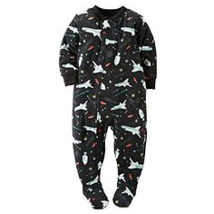 c5a95765e Snuggly and soft, these boys' fleece footed pajamas from Carter's are an  adorable bedtime must-have.