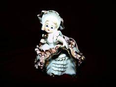 Vintage Geo. Z. Lefton Bloomer Girl Porcelain Figurine KW 1598