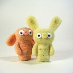 Needle Felting they are so cute they make me wanna baby talk to them lol