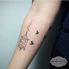 Resultado de imagem para tattoo gaiola