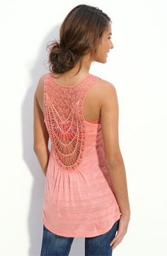 I'm obsessed with the back detail. It's so pretty. I will be purchasing this for summer. h.i.p. Embellished Back Tank Nordstroms. $36.00