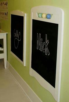 Chalkboard using old crib