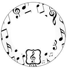 Latinhas e Toppers Notas Musicais