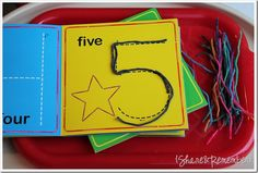 Make this with big, fuzzy, brown yarn, and caterpillars/worms can make their numbers or letters!