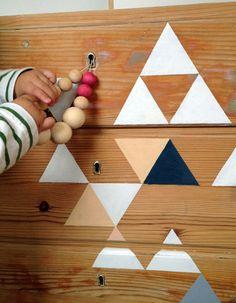 un ancien meuble relooké en géométrie peinte - Hitta hem: D I Y  Painted Dresser