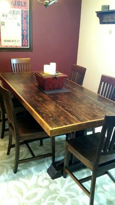 Boxcar Floor Farmhouse Style Table. My Hubby Made This GORGEOUS One Of A  Kind Table From Old Train Car Flooring From Union Pacific.