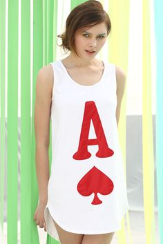 d0dbe83e6ce Poker Heart Pattern White Vest... I can be the queen of hearts for