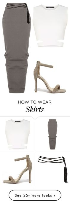 """""""Pencil maxi skirt x sandals x crop top x rope belt tide tight"""" by le-lola on Polyvore featuring Rick Owens, BCBGMAXAZRIA, Steve Madden, women's clothing, women's fashion, women, female, woman, misses and juniors"""