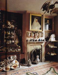 The curiosity cabinet at Malpaquet House, London