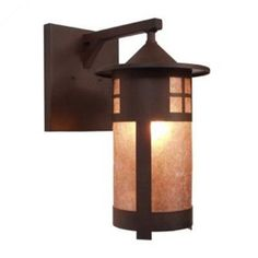 Steel Partners Pasadena 1 Light Outdoor Wall Lantern Finish: Old Iron, Shade Type: Bungalow Green