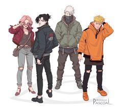 Petition to do a remake of Naruto everything stays the same except they're dressed like this. Anime Naruto, Naruto Comic, Naruto Shippuden Sasuke, Naruto Und Sasuke, Naruto Fan Art, Wallpaper Naruto Shippuden, Naruto Cute, Sakura And Sasuke, Manga Anime