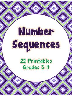 This packet includes 22 printables to supplement and/or reinforce lessons on sequence of numbers.