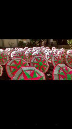 Sombrinhas de carnaval - mangueira