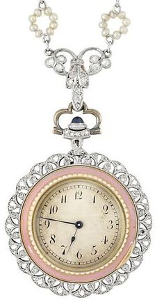 Antique Ottoman Empire Pocket Watch Longines Cuivre W/ Enameled Case Easy And Simple To Handle Jewelry & Watches Antique