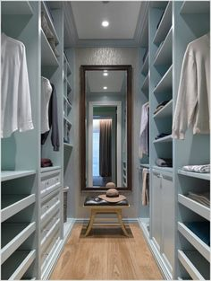 Master bedroom walk in closet design ideas master bedroom with walk in closet small walk in . master bedroom walk in closet design ideas Walk In Closet Small, Walk In Closet Design, Bedroom Closet Design, Master Bedroom Closet, Small Closets, Dream Closets, Closet Designs, Long Narrow Closet, Small Master Closet