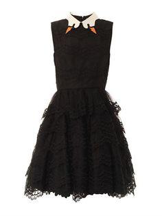 REDValentino Swan collar scallop-lace dress - A classier version of Bjork's swan dress