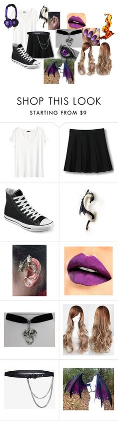 """""""Enderlight (remake)"""" by eyeless-angel-of-death ❤ liked on Polyvore featuring H&M, WithChic, Converse, Barbara Bui and Haze"""