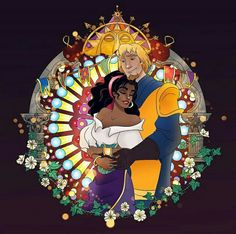 Disney Heroines Couple Fanart - Esmeralda and Phoebus Disney Artwork, Disney Fan Art, Disney Drawings, Disney Love, Dreamworks Movies, Disney And Dreamworks, Disney Pixar, Disney Characters, Disney Princesses