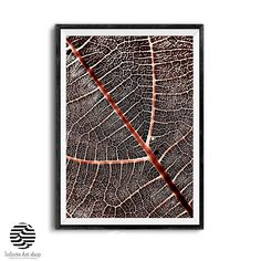 Leaves Wall Art,Fall Decor,Leaf Texture Wall Print,Leaf Art Print,Texture Poster | Infinite Art Shop