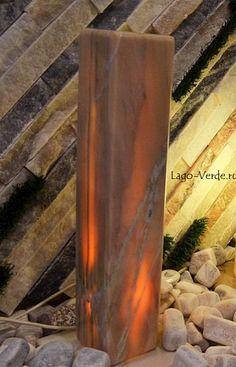 Светильник из розового мрамора для сада и интерьера. Оформите заказ на сайте.  Mramor lamp: make an order at lago-verde.ru Garden Lamps, Green