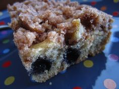 Wholesome Chow Blog: Gluten Free Blueberry Coffee Cake