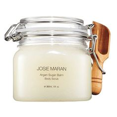 Josie Maran Argan Sugar Balm Body Scrub, $28, heals all over as it hydrates.  Its many miraculous skin and hair benefits include  moisturizing, anti-aging and healing properties for the entire body. It softens dry skin, heals acne, lightens scars, reduces wrinkles, softens cuticles, repairs damaged hair and more. What's not to love?