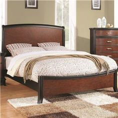 Josephina Queen Two-Tone Panel Bed with Arched Headboard and Footboard