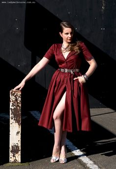 Lady Melbourne in a vintage inspired Natasha Manfield dress