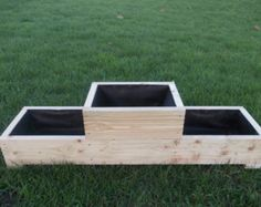 Large Wooden Planter / Window Box / Flower Planter / Herb Planter - All About Gardens Herb Garden Planter, Herb Garden Pallet, Cedar Planter Box, Diy Herb Garden, Wood Planter Box, Herb Planters, Home Vegetable Garden, Outdoor Planters, Flower Planters