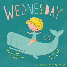 A lovely illustration from Lizzie Mackay for Wednesday Illustrations Vintage, Illustrations Posters, Whale Art, Vintage Drawing, Love Drawings, Kids Prints, Whimsical Art, Cute Illustration, Pattern Art
