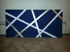 DIY canvas art...perfect size to hang over the bed