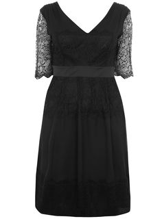 COLLECTION BLACK CHIFFON AND LACE DRESS  Price:£75.00