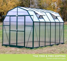 Grandio Elite 8x12 Greenhouses are now extendable. These are the strongest greenhouses on the market with 10mm twin wall polycarbonate panels, snow load kits and base kits included in the basic greenhouse packages.