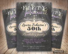 Beautiful chalkboard adult birthday invitation! Real chalkboard photograph is used as a background. No need to search for fancy paper, you can print it on plain white and it will look as good.  Can be easily printed as many times as you need. Fast and convenient!  Now with custom colors option to match your party concept perfectly! Please share your colors from the chart above.  size: 4x6 or 5x7 / 300dpi / high quality format: JPEG + PDF  You will receive one or two files (for listings with…