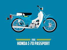 Honda C 70 Passport, USA 1981