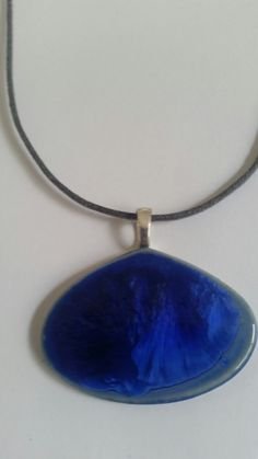 Midnight Sky porcelain pendant on cord